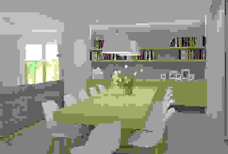 Scandinavian style dining room by EMMSTUDIO Magdalena Muszytowska Scandinavian
