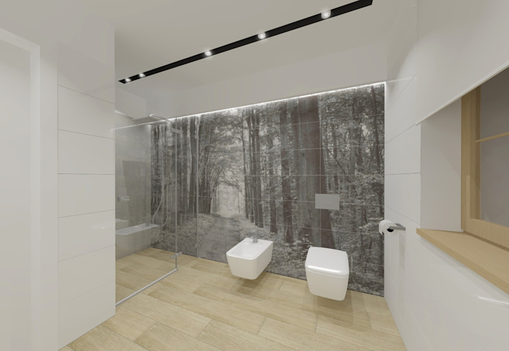 Modern style bathrooms by EMMSTUDIO Magdalena Muszytowska Modern