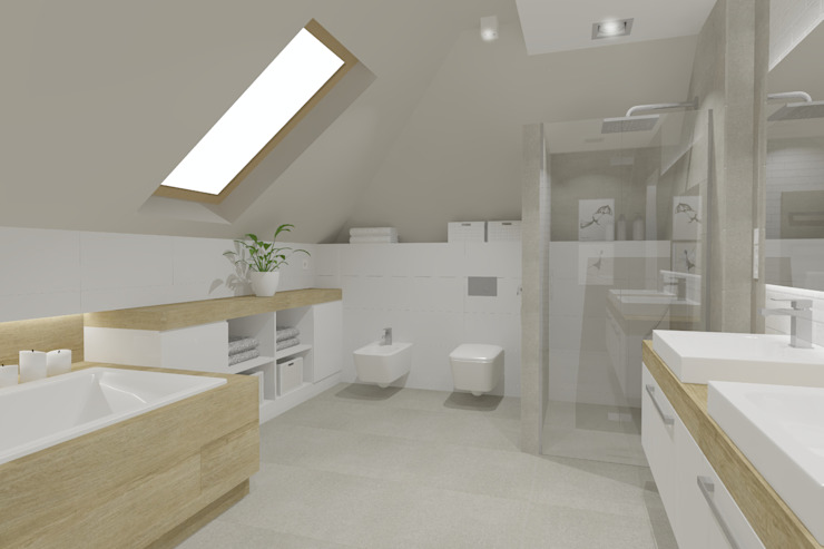 Scandinavian style bathrooms by EMMSTUDIO Magdalena Muszytowska Scandinavian