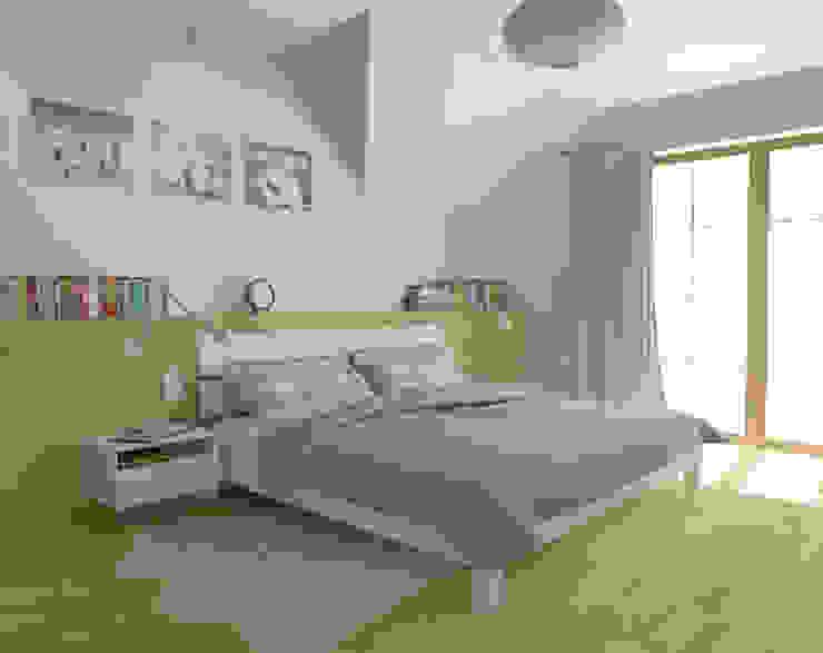 Scandinavian style bedroom by EMMSTUDIO Magdalena Muszytowska Scandinavian