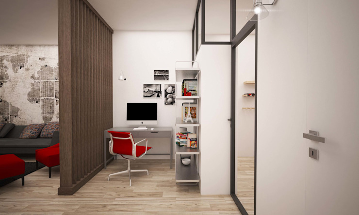 Corredores, halls e escadas industriais por LAB16 architettura&design Industrial