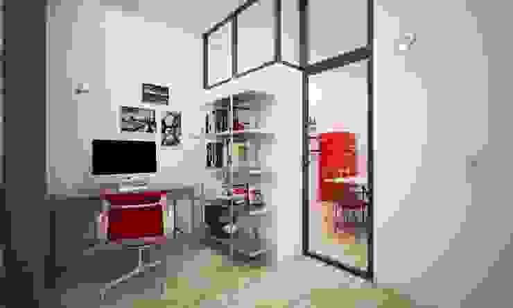 Pasillos, vestíbulos y escaleras de estilo industrial de LAB16 architettura&design Industrial