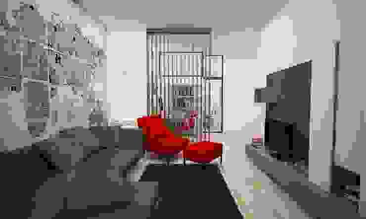 Гостиная в . Автор – LAB16 architettura&design, Лофт
