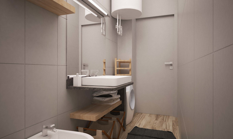 LAB16 architettura&design Industrial style bathroom
