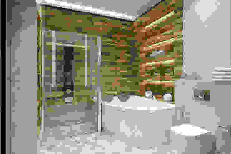 Квартира на основе современных американских интерьеров: Ванные комнаты в . Автор – Дарья Баранович Дизайн Интерьера