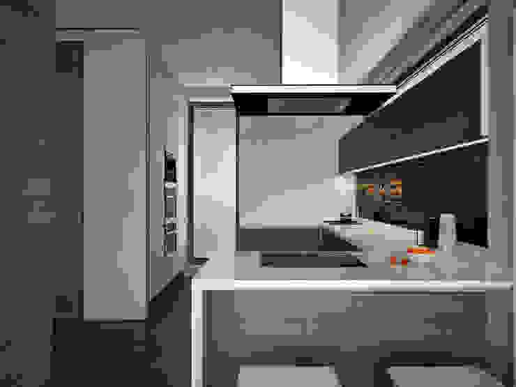 Cucina minimalista di премиум интериум Minimalista