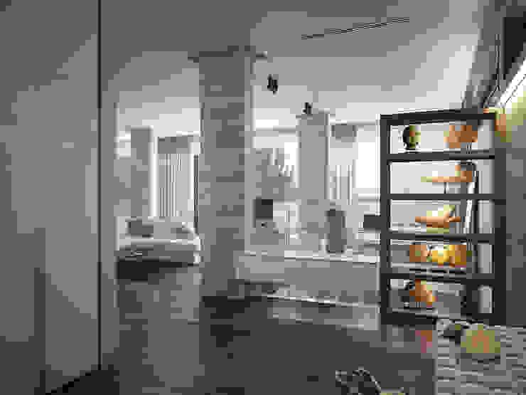 Ingresso, Corridoio & Scale in stile minimalista di премиум интериум Minimalista