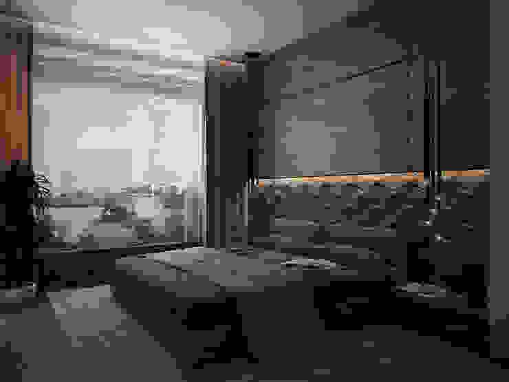 Дом у большой воды премиум интериум Спальня в стиле минимализм
