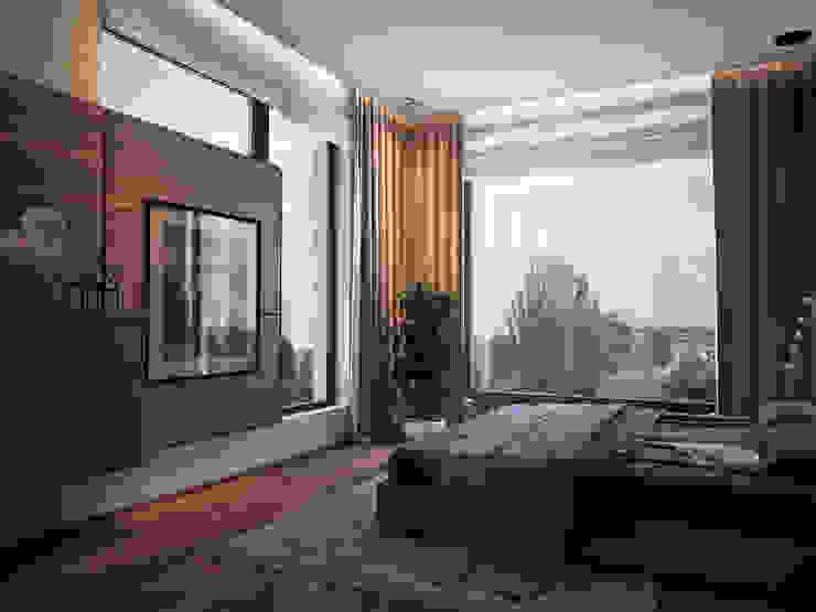 Camera da letto minimalista di премиум интериум Minimalista