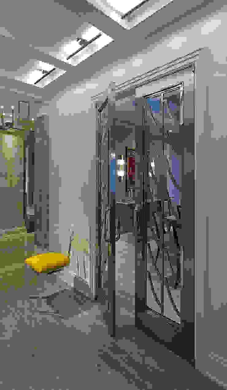 Art Deco Doors Douglas Design Studio Classic corridor, hallway & stairs