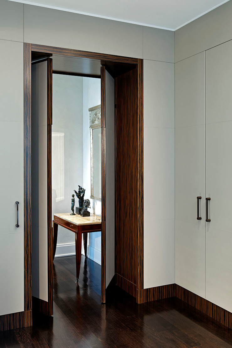 Pocket Doors Classic style corridor, hallway and stairs by Douglas Design Studio Classic