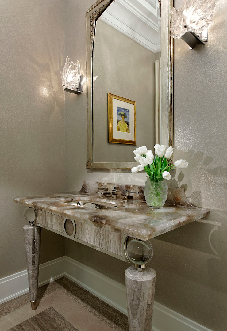 Powder Room Douglas Design Studio Classic style bathrooms
