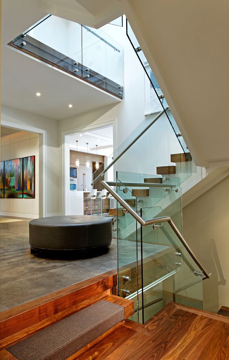 Staircase Landing Modern Corridor, Hallway and Staircase by Douglas Design Studio Modern