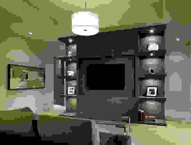 Media Room by Douglas Design Studio Modern