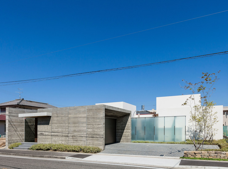 Casas minimalistas por Architet6建築事務所 Minimalista Vidro