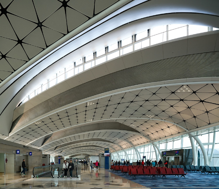 HKIA Midfield Concourse, Hong Kong, by Aedas Modern airports by Architecture by Aedas Modern
