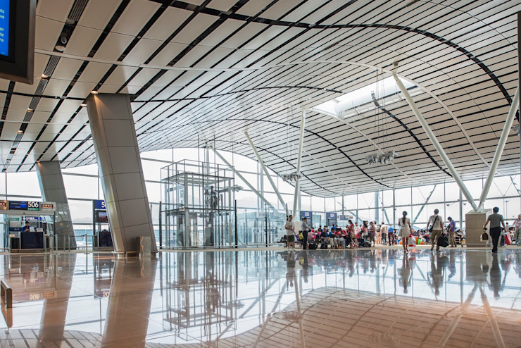 HKIA North Satellite Concourse, Hong Kong, by Aedas Modern airports by Architecture by Aedas Modern