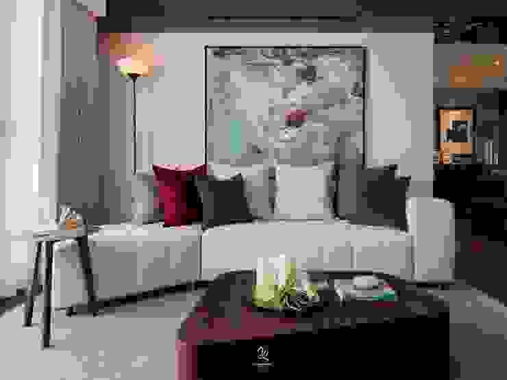 Ruang Keluarga Modern Oleh 成綺空間設計 Modern