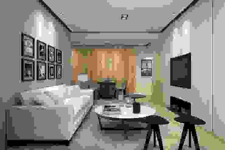 Moderne woonkamers van 成綺空間設計 Modern