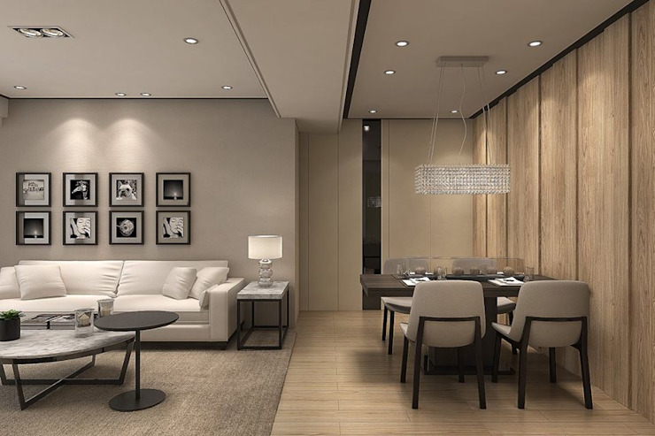 Salas de estilo moderno de 成綺空間設計 Moderno