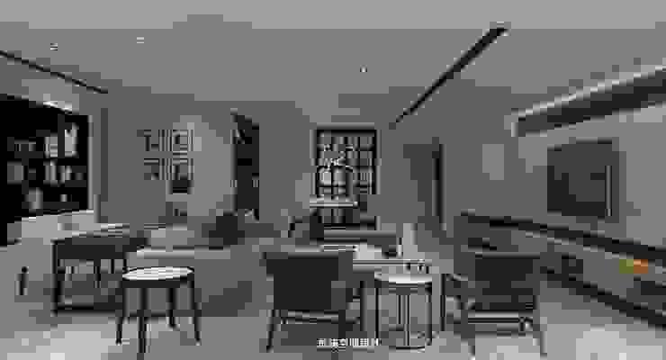 王公館 现代客厅設計點子、靈感 & 圖片 根據 成綺空間設計 現代風