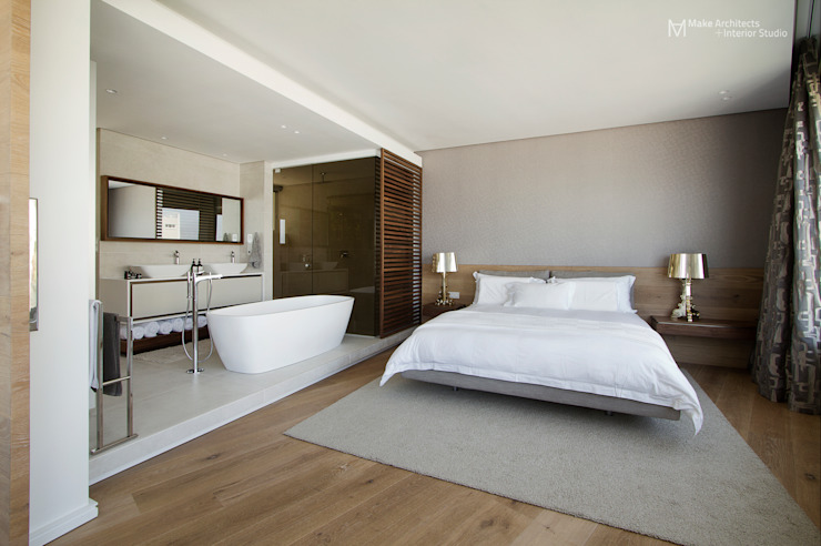 Clifton Apartment Make Architects + Interior Studio Minimalist bedroom