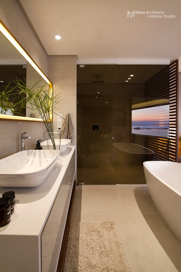 Clifton Apartment Modern bathroom by Make Architects + Interior Studio Modern