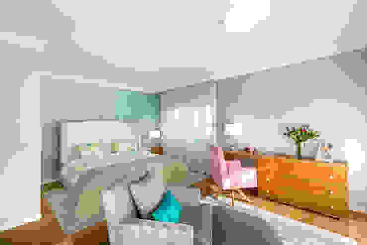 Stoc Casa Interiores Camera da letto moderna Turchese