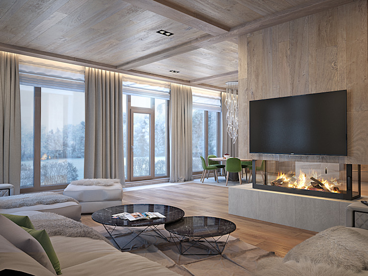 Salas de estar minimalistas por премиум интериум Minimalista