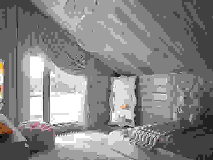 Загородный дом из бруса Детская комнатa в стиле минимализм от премиум интериум Минимализм