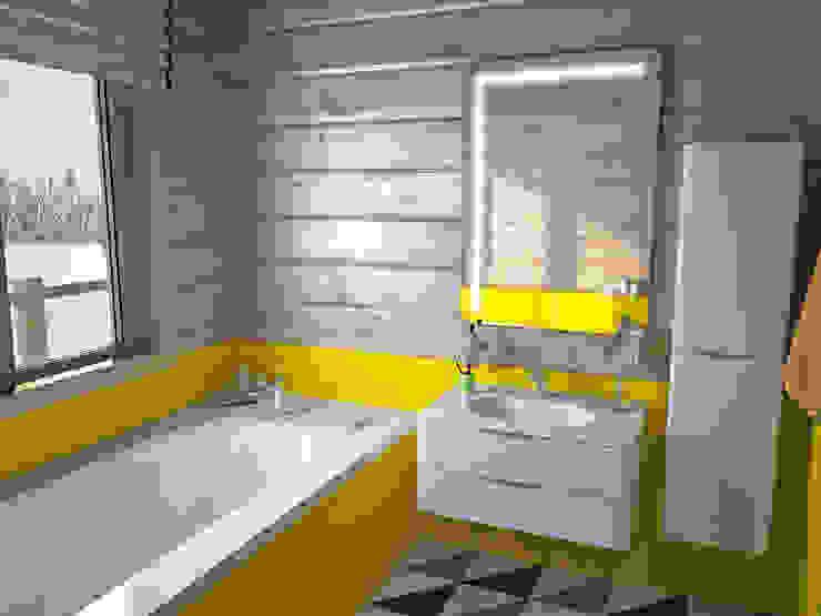 Banheiros minimalistas por премиум интериум Minimalista