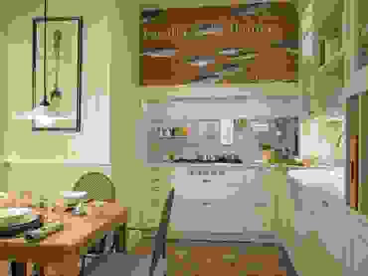 El sabor de lo antiguo DEULONDER arquitectura domestica Cocinas de estilo clásico Blanco