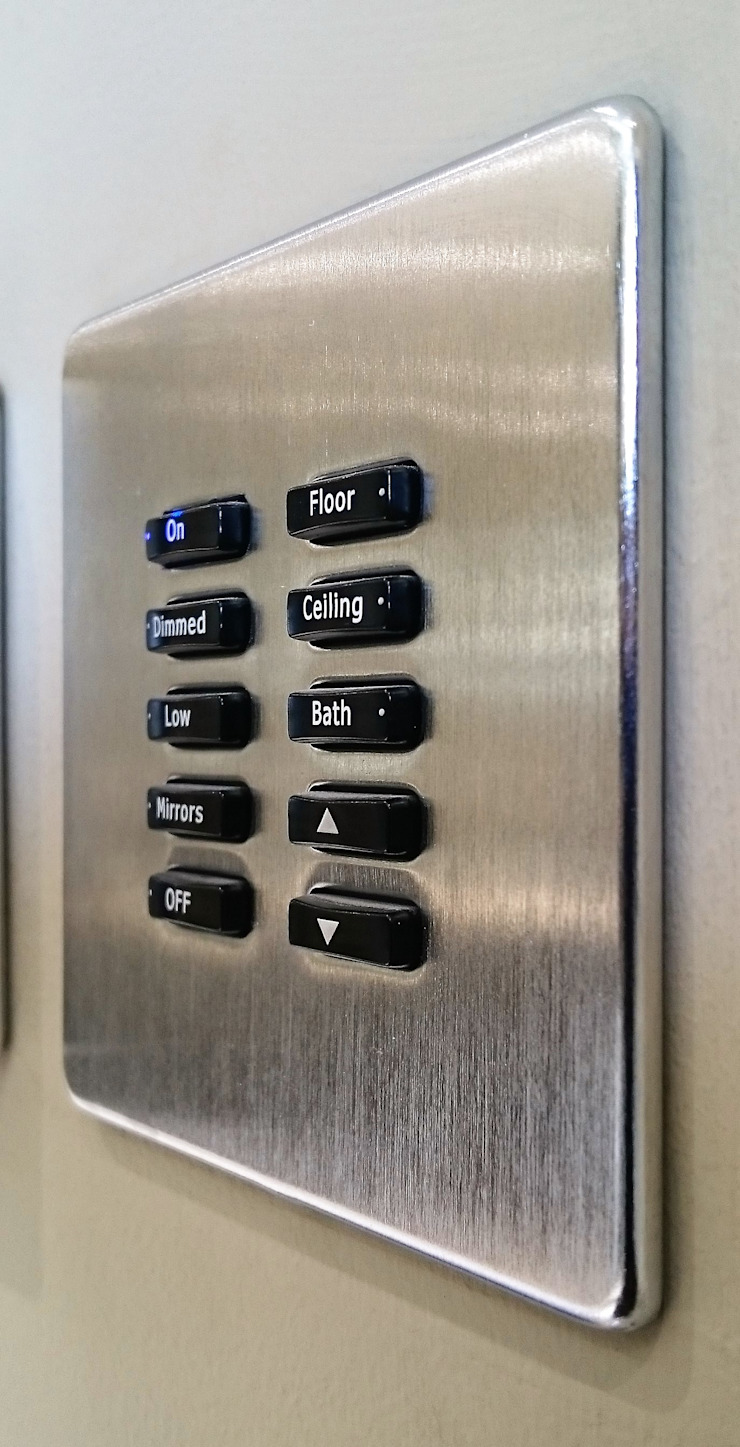 Customised button labels Link It Solutions Ltd Modern Living Room