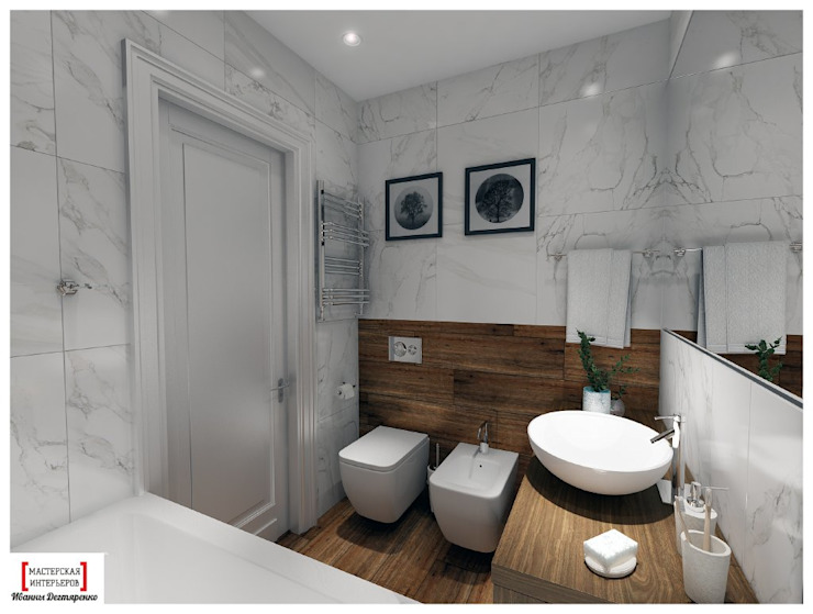 Eclectic style bathrooms by Мастерская интерьеров Иванны Дегтяренко Eclectic