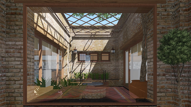 Rustic style conservatory by ARBOL Arquitectos Rustic