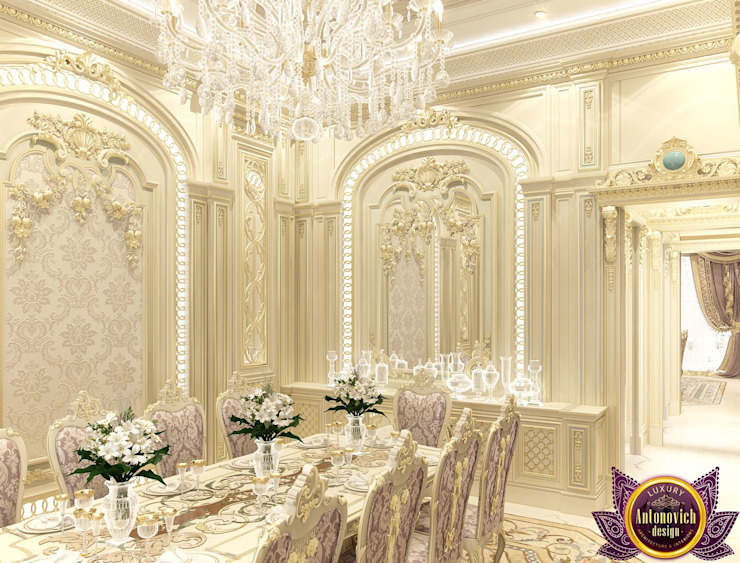 Dining room Interior design of Katrina Antonovich Classic style dining room by Luxury Antonovich Design Classic