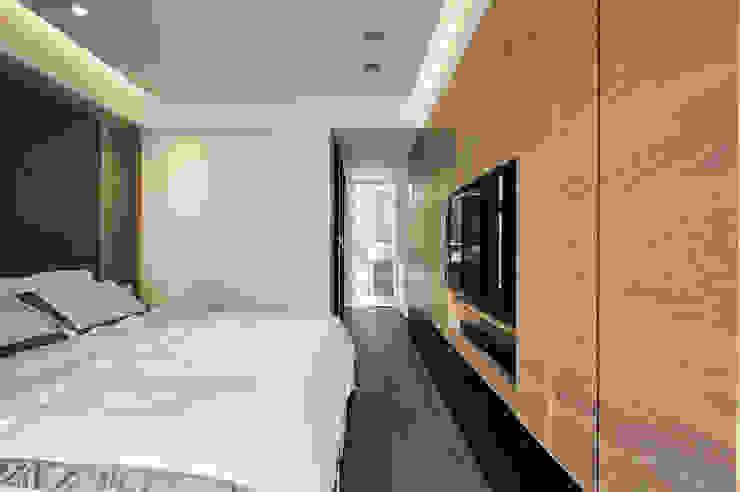講究細節設計,讓主題牆更耐看 Modern style bedroom by 青瓷設計工程有限公司 Modern