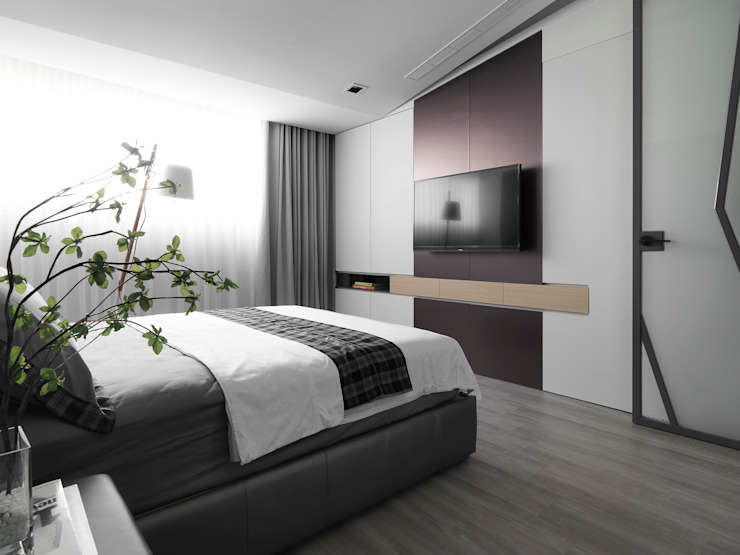 Dormitorios de estilo  de 樸暘室內裝修有限公司,