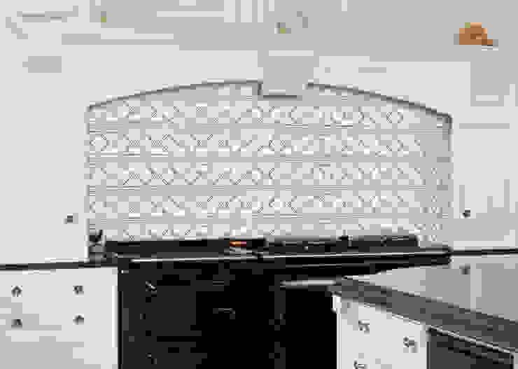 Beige marble border, Ponos Elalux Tile Kitchen Marble White