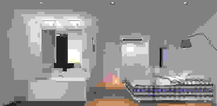 Master bedroom Moderne slaapkamers van Lab32 architecten Modern