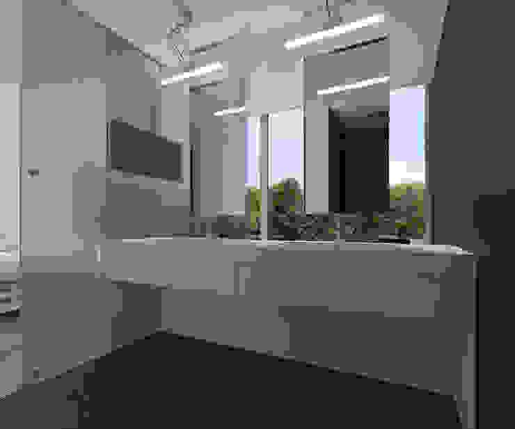 Badkamer Moderne badkamers van Lab32 architecten Modern Glas