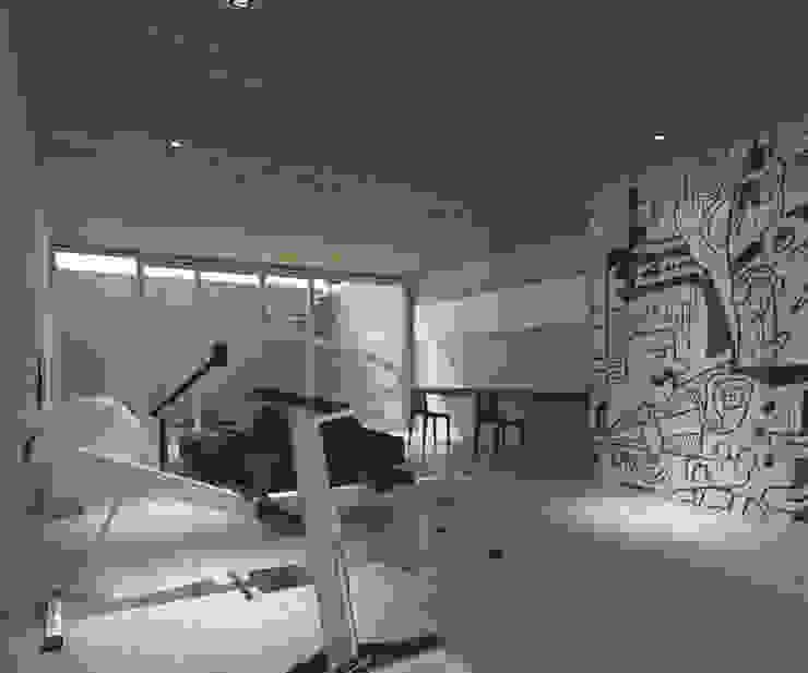 Ontspanningsruimte Moderne fitnessruimtes van Lab32 architecten Modern Beton