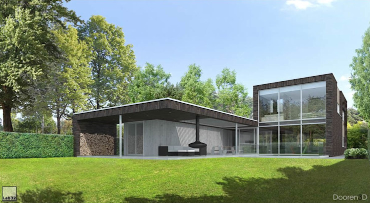 Landrover huis Moderne huizen van Lab32 architecten Modern
