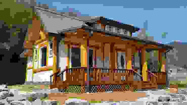 21평 소형 통나무집: 보국주택의 컨트리 ,컨트리