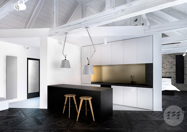 365 Stopni Kitchen Wood-Plastic Composite White