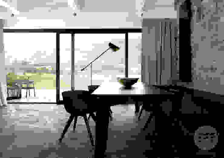 365 Stopni Minimalist dining room Wood Wood effect