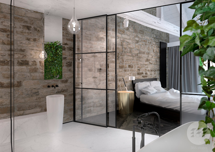 365 Stopni Minimalist style bathrooms Stone White