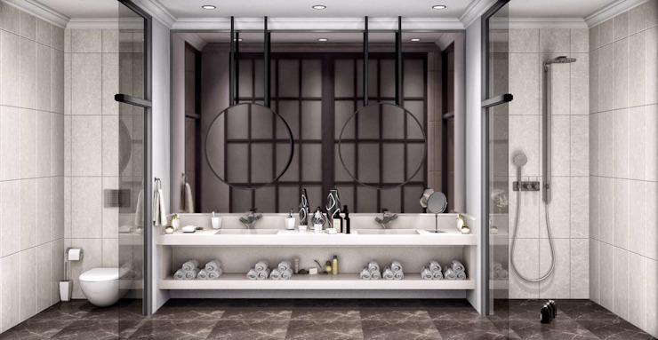 Villa Balıkesir VERO CONCEPT MİMARLIK Modern Banyo