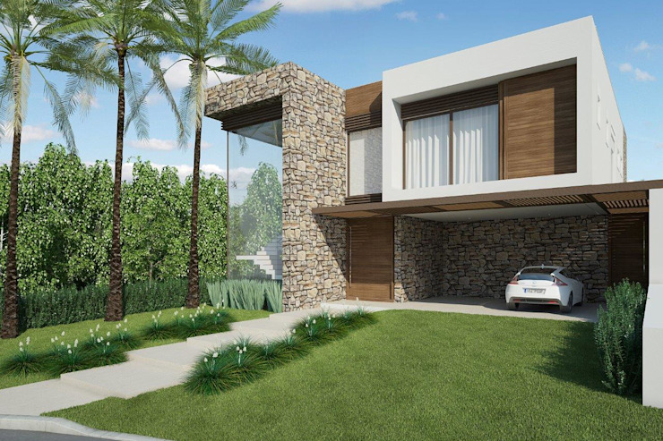 Fachada Quitete&Faria Arquitetura e Decoração Casas modernas