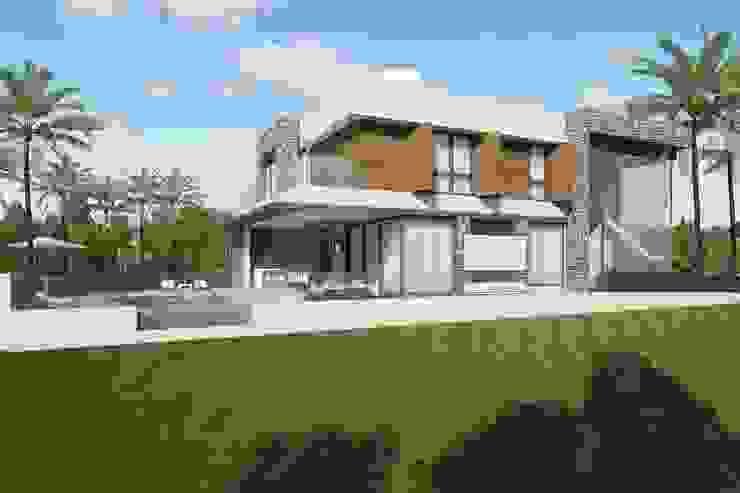 Fachada lateral Casas modernas por Quitete&Faria Arquitetura e Decoração Moderno